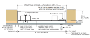 Fire Rated Tile Faced Wall Access Panel 1