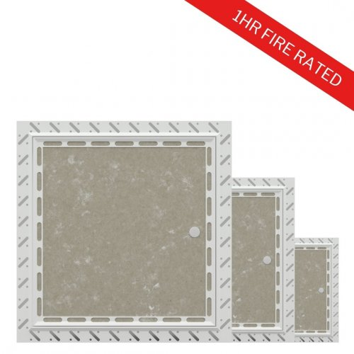 10x 1hr Fire Rated Plasterboard Access Panels Multipack