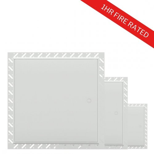 FlipFix 1hr Fire Rated Metal Access Panel with Beaded Frame Multipack - White BG